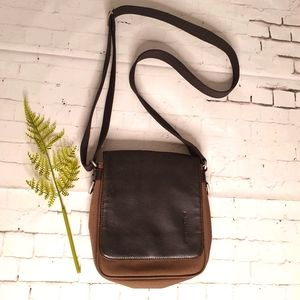Texier Man Bag 22 x 20cm Part Leather Gently used